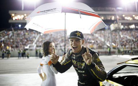 "Feredric ""The Norwegian Hammer"" Aasbo won it all at Irwindale in the Formula Drift season finale."