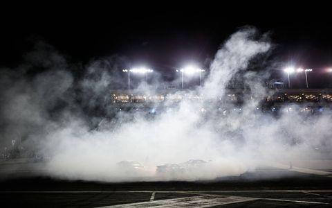 A little tire-smokin' celebratin' at Formula D.
