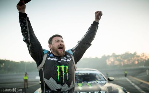 Vaughn Gittin Jr. drove his 900-hp Mustang to a win in Round 4 of the 2016 Formula Drift Pro Championship at Wall Speedway in New Jersey. It was his record-tying ninth event win. Chris Forsberg overcame a late-round crash to finish second in a Nissan 370Z. Alex Heilbrunn was third in a BMW M3.