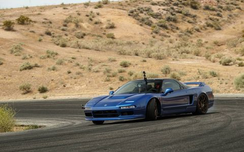 Car audio specialists Clarion rebuilt this 1991 Acura NSX as a 348-hp promotional tool for the company. And then they let us drive it.