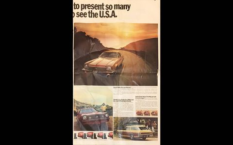 """This four-page ad shows every way that you could see the """"USA in your Chevrolet"""" in 1973."""
