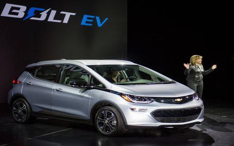 Chevrolet unveiled the Bolt EV at CES.