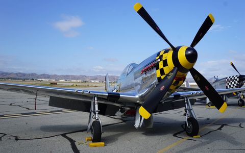 The Planes of Fame Air Show in Chino showcased many aircraft but the biggest crowdpleasers may have been the fighters. From P-51s and P47s to F-86s and MIG-15s it was quite a collection.