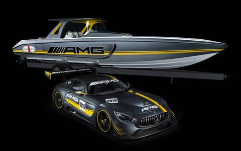 The Cigarette Racing Team 41' SD GT3 boat