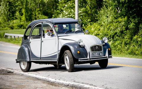 Citroen 2CV at Citroen Rendezvous 2014.