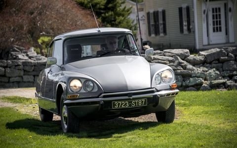 This was one of two Citroen DS cars at the event.
