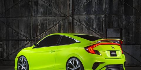 Our first glimpse of the 10th-generation Honda Civic was this coupe concept; the production two-door will soon make its debut at the LA Auto Show.