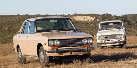 Nissan let us drive a 510 and a 411 all the way from LA to Monterey.