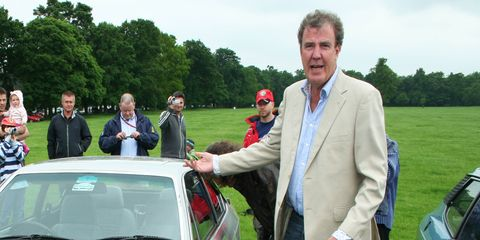 """Clarkson, along with Richard Hammond, James May and Andy Wilman, left """"Top Gear"""" to host a show on Amazon Prime."""