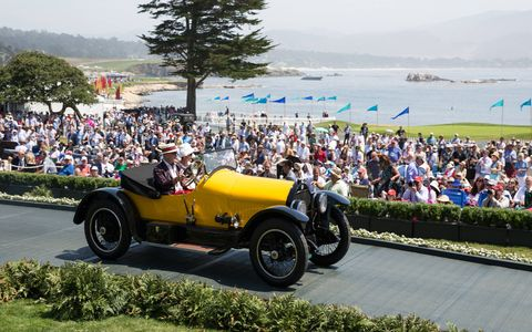 Class B Vintage 1st place, 1920 Stutz Series H Bearcat , Stanley and Merle Bauer, Beverly Hills, Calif.
