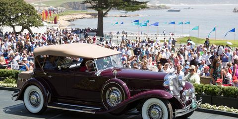 Class C-1: American Classic Open 1st place, 1931 Chrysler CG Imperial LeBaron Dual Cowl Phaeton, Aaron and Valerie Weiss, San Marino, Calif.