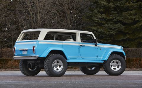 The Jeep Chief Concept sits on a Wrangler.