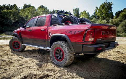 Ram debuted its supercharged 6.2-liter V8 powered Rebel TRX concept at the State Fair of Texas.