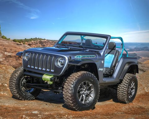 Jeep unveiled seven concept vehicles for the 2018 Easter Jeep Safari in Moab, Utah including the lightweight 4Speed.