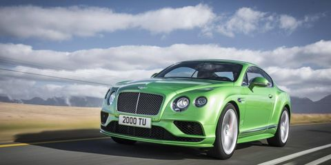"""The fenders now feature a new vent, complete with a graceful metallic """"B"""" adornment, which serve to emphasise and enhance the renowned Bentley """"power line"""" that flows rearwards from the front arches."""