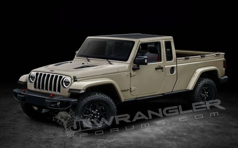 The folks at JLWranglerforums.com put together these renderings based on some spy shots and insider info.