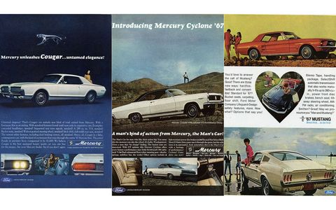 The Ford and Mercury ads are quite manly.