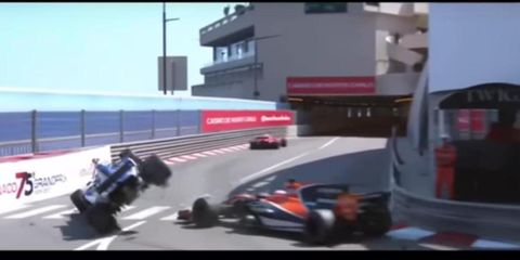 Pascal Wehrlein crashed in the Monaco GP Sunday.