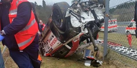 A spectator is dead following a terrible crash at the Nurburgring on Friday.
