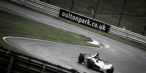 The BAC Mono at home in its native environment.