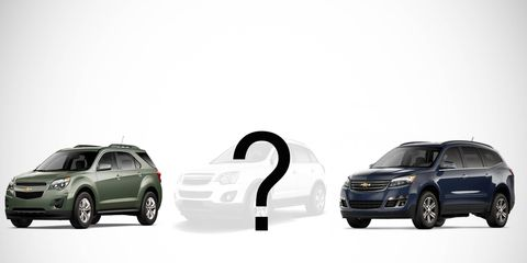 The crossover is expected to be a short-wheelbase version of the Traverse.