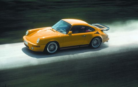 RUF says the 1987 CTR, a 469 bhp twin turbo coupé, set a record for production cars on the Nardo test track at 212 mph