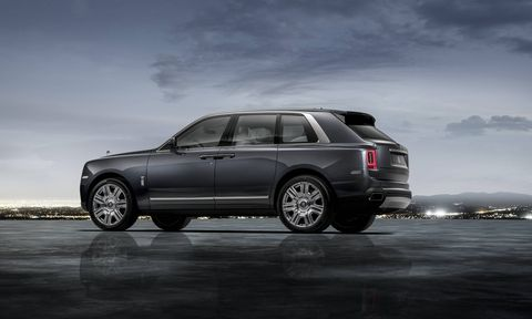 The 2019 Rolls-Royce Cullinan offers nearly every kind of bespoke feature you could imagine, including your choice of a folding rear bench seat or folding buckets (the latter separated by a center console/drinks cabinet with – of course -- Rolls-Royce whisky glasses and decanter, champagne flutes and refrigerator).