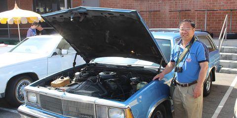 Curtis Dare and his 1980 Chevrolet Malibu wagon.