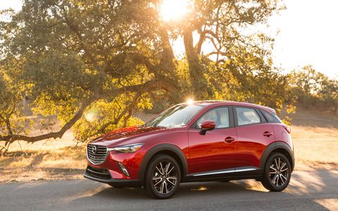 The 2017 Mazda CX-3 is powered by a 2.0-liter four-cylinder engine making 146 hp and 146 lb-ft of torque.