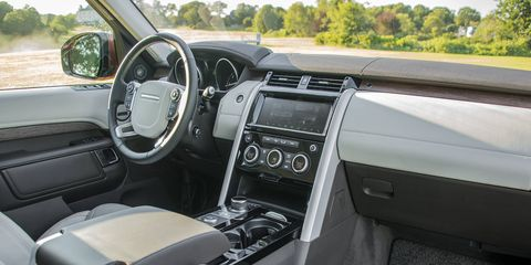 The Discovery offers a luxurious interior with just about every surface covered with leather.