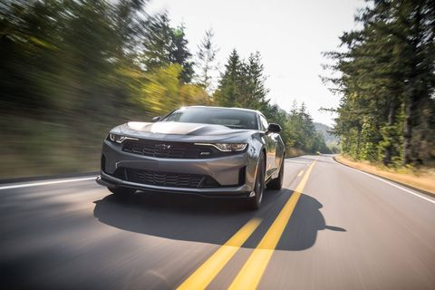 The 2019 Chevrolet Camaro Turbo 1LE comes with a 2.0-liter turbo four producing 275 hp and 295 lb-ft of torque.