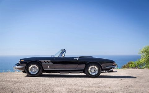 1967 Ferrari 330 GTS CV One of 100 built, this stunning cabriolet was among the fastest GTs on the road in the 1960s. Under its elegant Pininfarina body lies the heart and soul of any pure-blood Ferrari -- a V12 that produces 300 hp and a top speed of 150 mph. In addition to amazing power and luxury, this classic Ferrari also has incredible driving dynamics. Estimated value: $3 million.