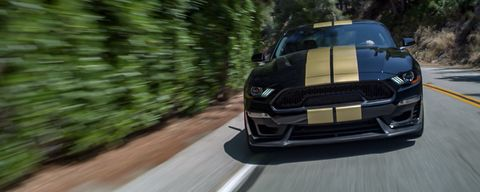 The 2019 Shelby GT gets the Mustang Bullitt's upgraded V8 making 480 hp.