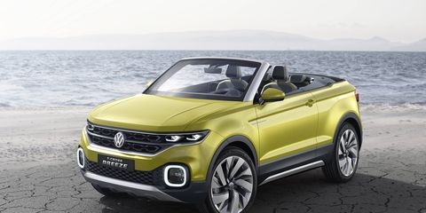 The T-Cross Breeze debuted at the Geneva Motor Show, powered by a 1.0-liter inline-three.