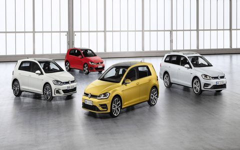The 2018 Volkswagen Golf gets minor updates for the 2018 model year. European model shown; the U.S. model will arrive later.