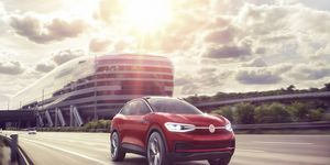 Volkswagen's I.D. Crozz - a hatchbackish four-door crossover - will make its U.S. debut at the L.A. auto show. The Crozz rides on the MEB platform, VW's new, adjustable electric car platform.