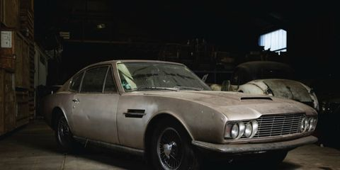 This 1968 Aston Martin DBS stayed hidden for the last 30 years on the channel island of Jersey.