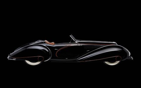 1938 Delahaye 135M Figoni Roadster, Collection of Margie and Robert E. Petersen