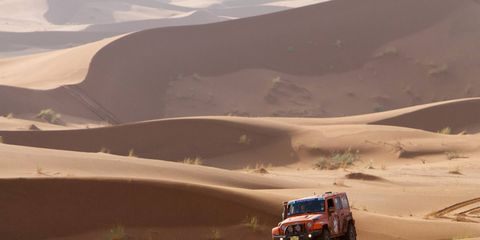 Lerner and Howell's AEV Jeep Wrangler in last year's Rallye