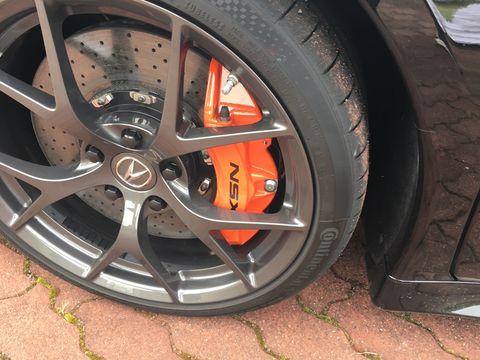 the acura now has an option for orange brake calipers and a blue indigo interior trim the 573 hp engine remains the same