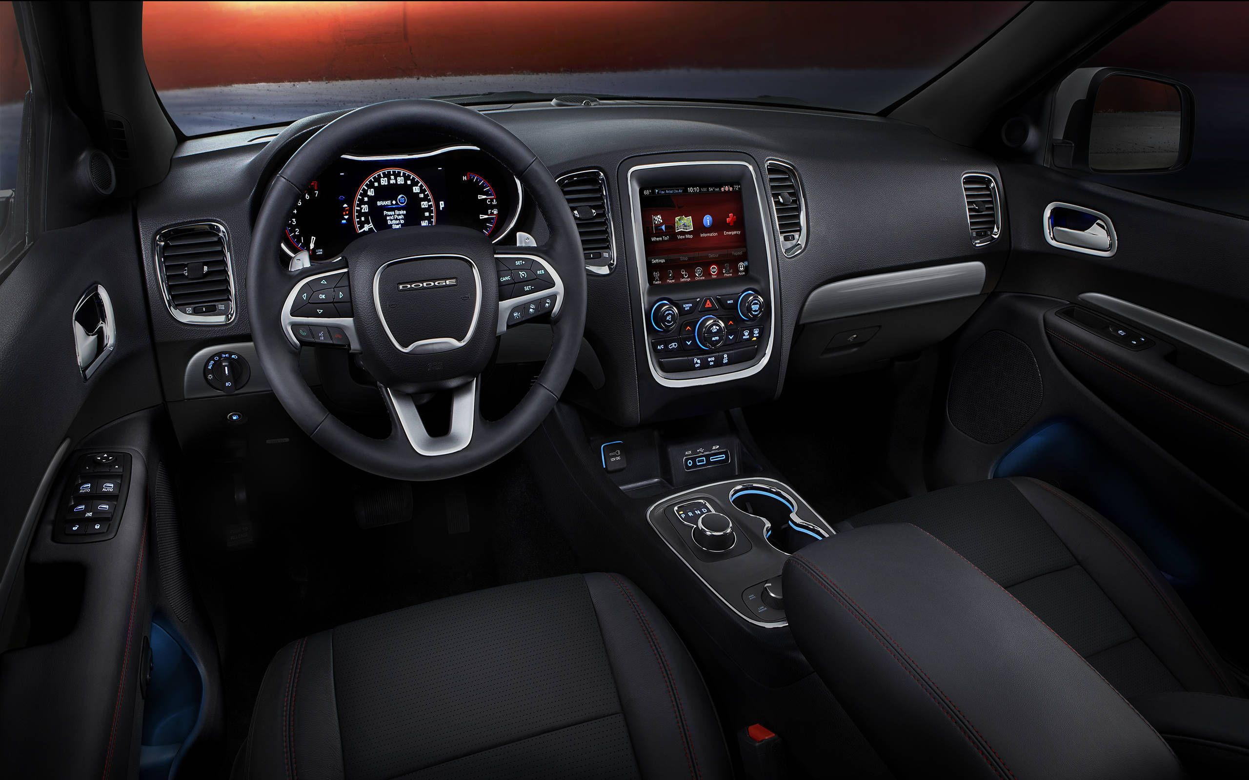 2015 Dodge Durango R T Review Notes Interior Luxury For Three Rows