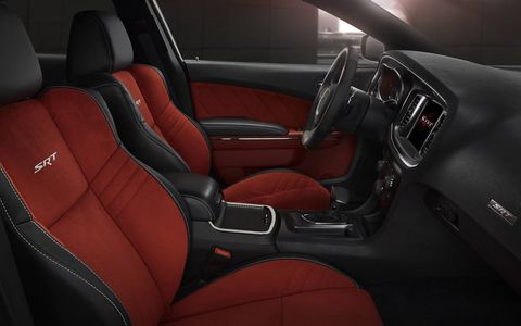 The new 2015 Dodge Charger SRT Hellcat features redesigned seats with improved cushioning and more comfortable contours.