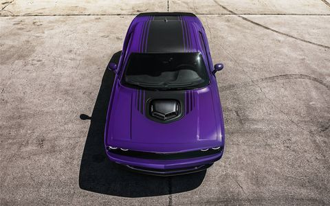 Dodge reintroduced Plum Crazy purple as a paint color for the 2016 Charger and Challenger at the 2015 Woodward Dream Cruise