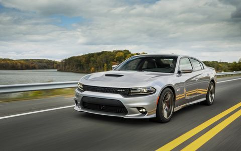 The Charger SRT has a 6.4-liter, 485-hp V8. Predictably, it uses a lot of fuel.