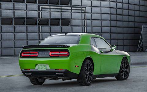 The Challenger T/A adds the air catcher headlights, now with a T/A logo inside, a NACA-ducted hood that feels like the Hellcat airbox, a 2.75-inch active exhaust and 20-inch wheels that are wider than stock.