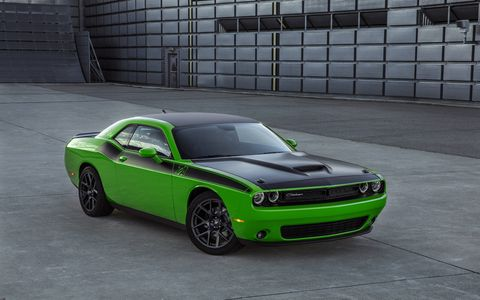 The Challenger T/A and Charger Daytona are both offered with either a 375-hp, 5.7-liter V8 or the 485-hp, 6.4-liter V8