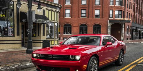 The 2017 Dodge Challenger GT AWD features Dodge's 3.6-liter Pentastar V6 engine, delivering 305 horsepower at 6,350 rpm and a responsive 268 lb.-ft. of torque at 4,800 rpm.