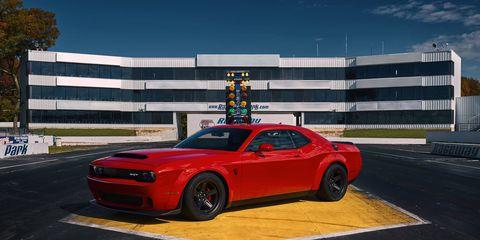 The Dodge Challenger SRT Demon can run on high-octane race fuel with an optional ECU.