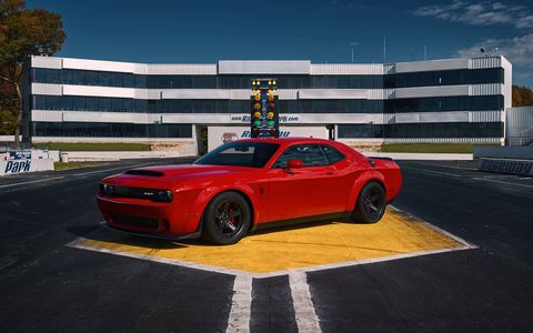 The Dodge Challenger SRT Demon can run on high-octane race fuel with an optional ECU.