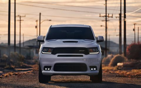 The 2018 Dodge Durango SRT gets new front and rear fascias, distinct badging, unique wheels and a new hood.